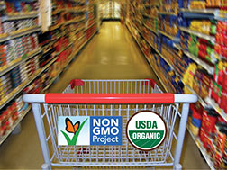 Non-gmo and organic compete in grocery stores