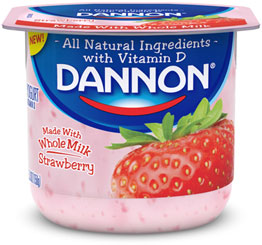 Dannon yogurt container