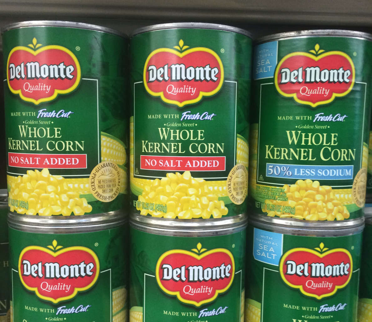 Del Monte sweetcorn canned products