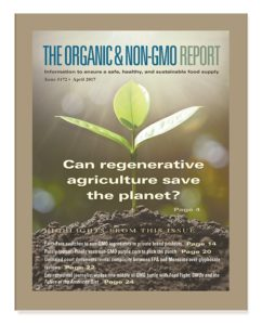 The Organic Non-GMO Report April 2017 cover