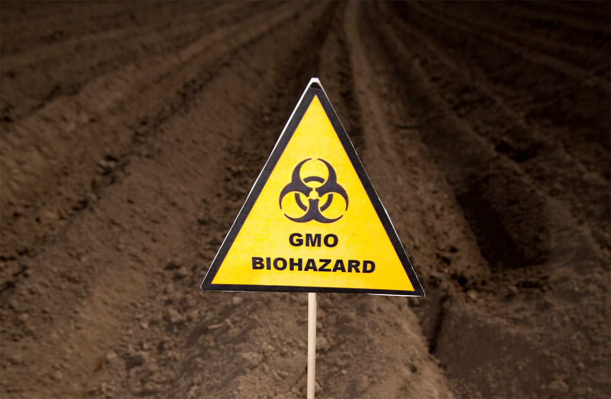 GMO Biohazard sign