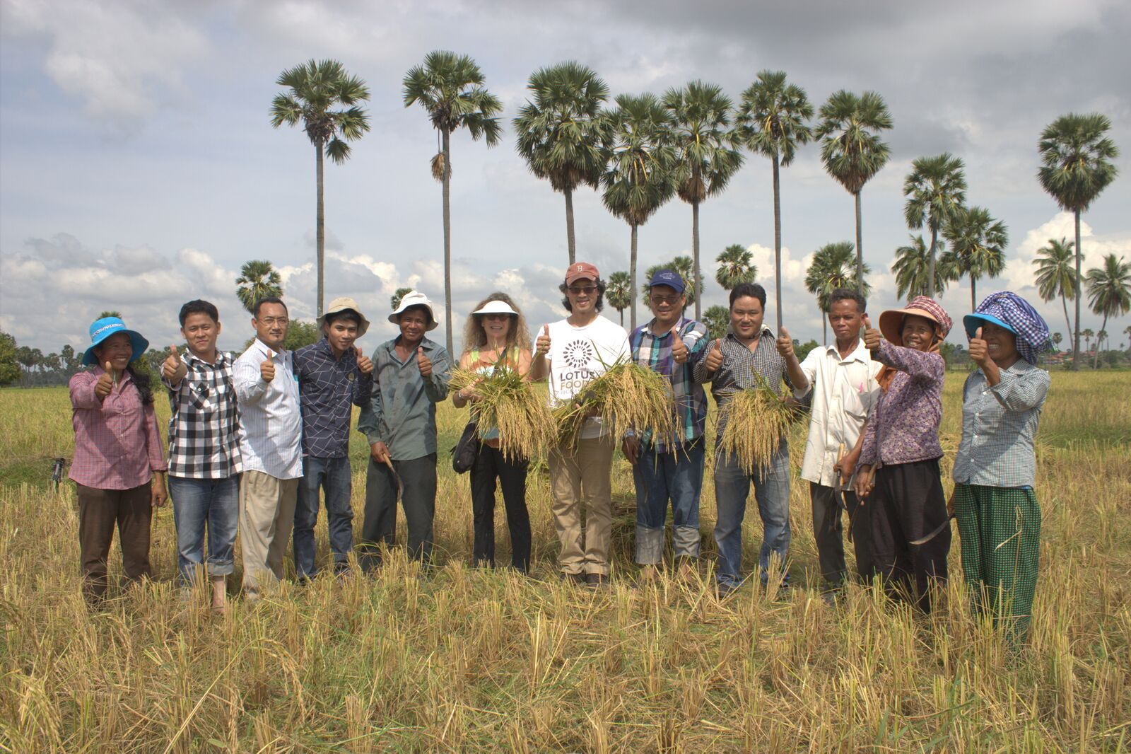staff from the Cambodian Center for Study and Development in Agriculture