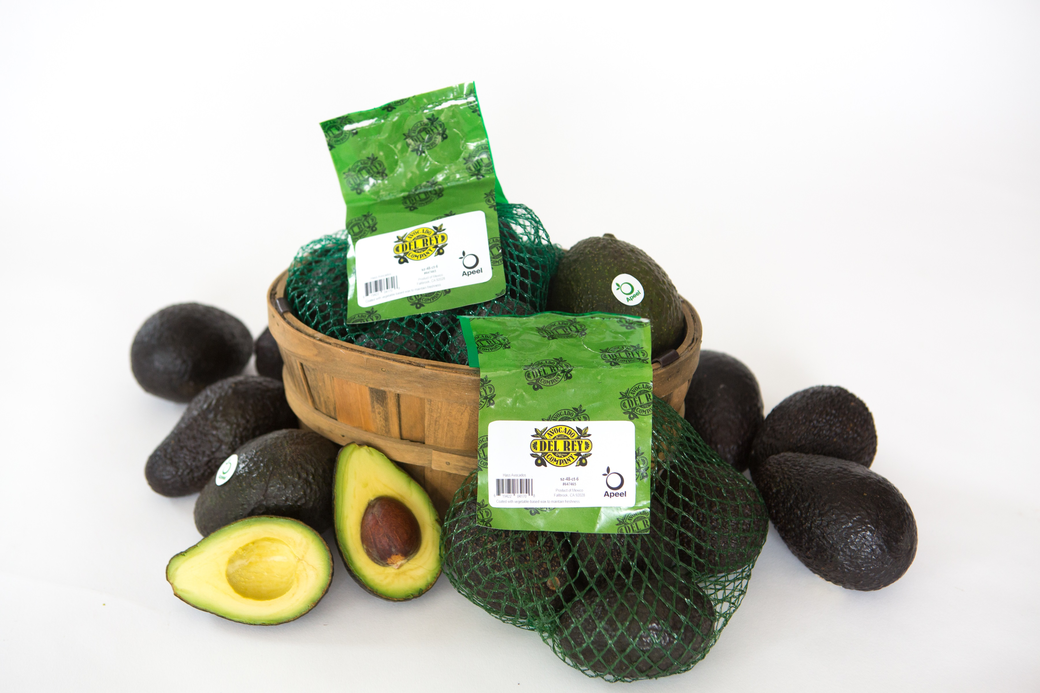 Apeel avocados with label