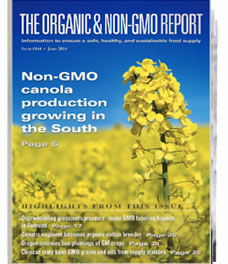 Subscribe to The Organic & Non-GMO Report Magazine