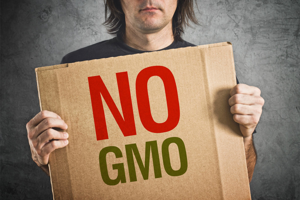 No GMO sign gmo concerns consumers