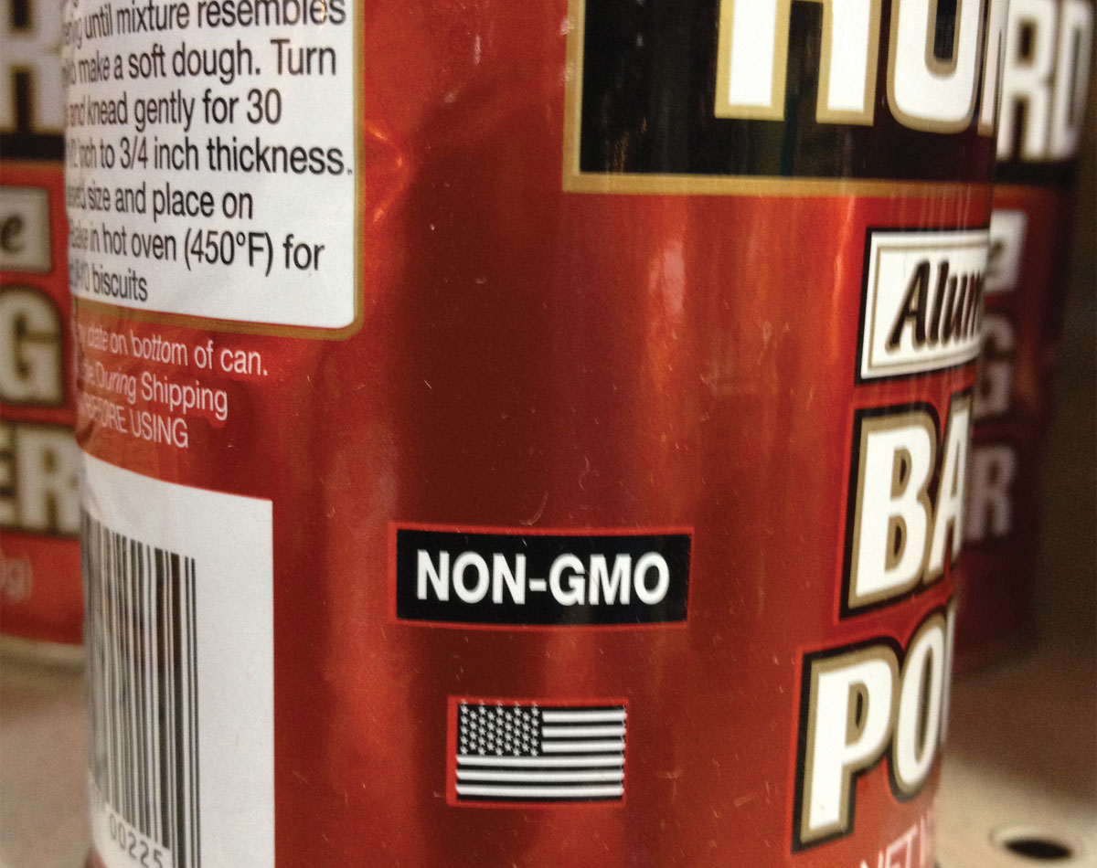 Non-GMO Food Product Label United States of America