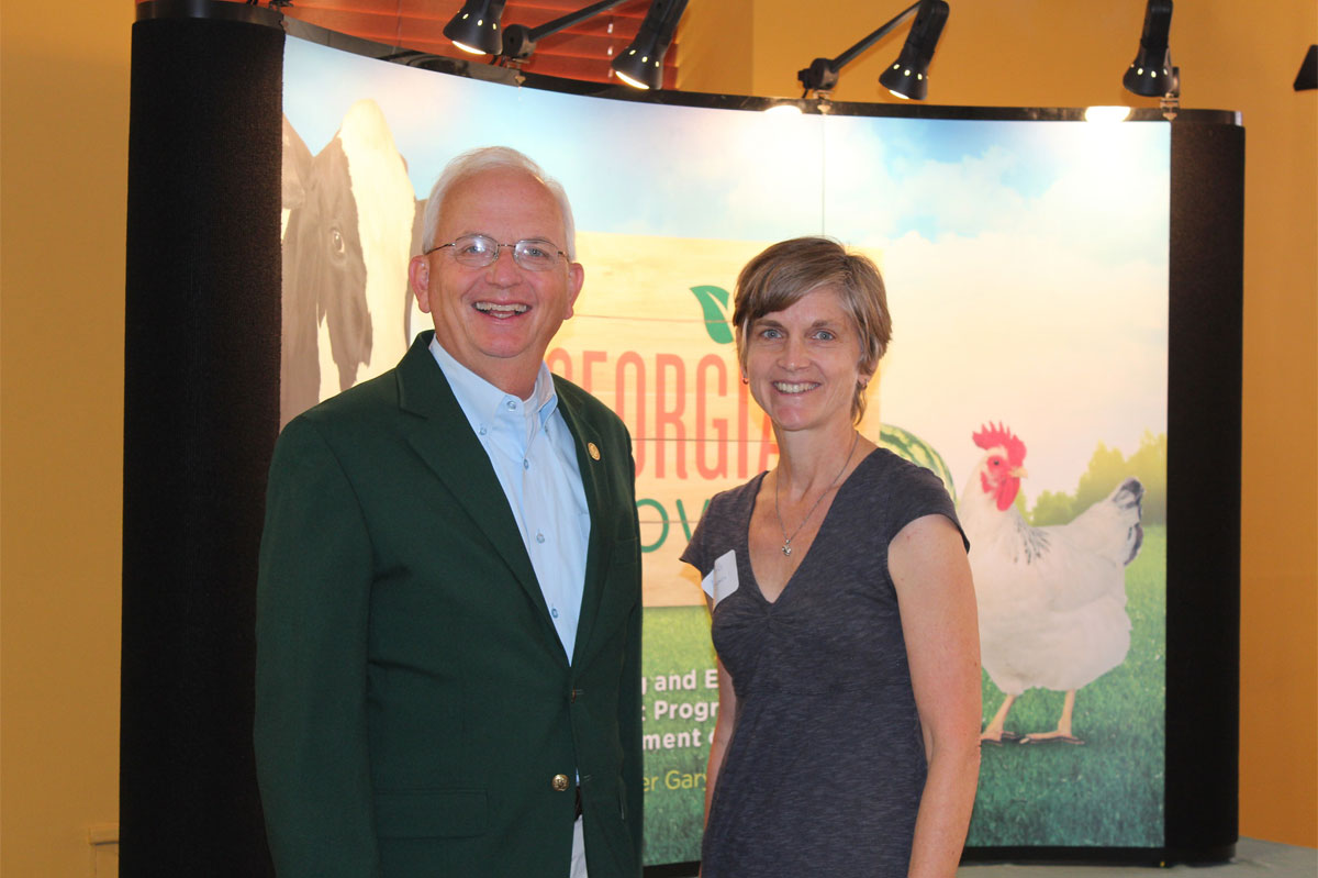 Georgia Organics executive director with Georgia Agricultural Commissioner