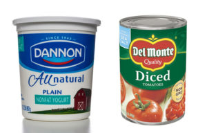 Del Monte and Dannon food products