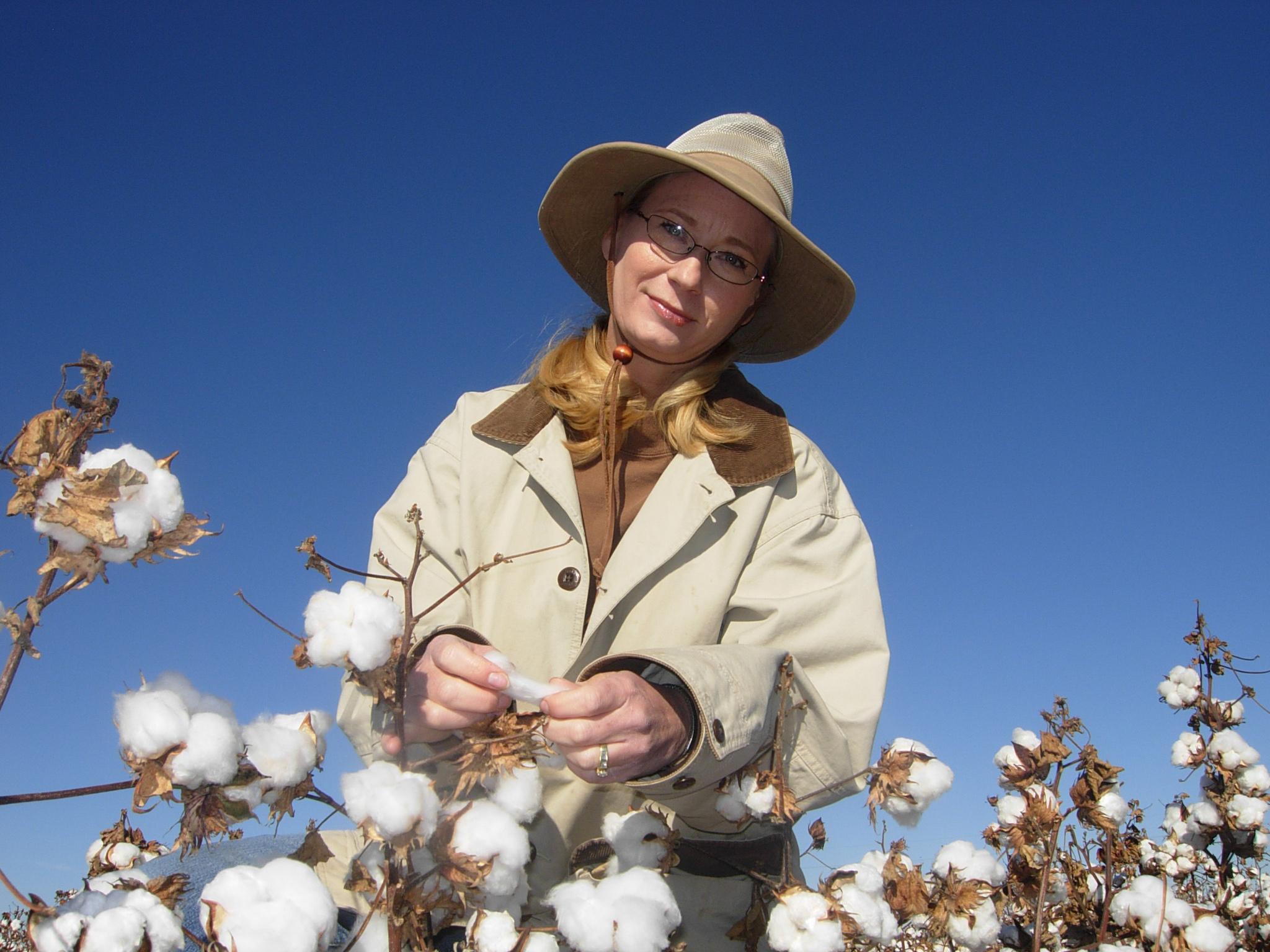 Jane Dever professor and cotton breeder