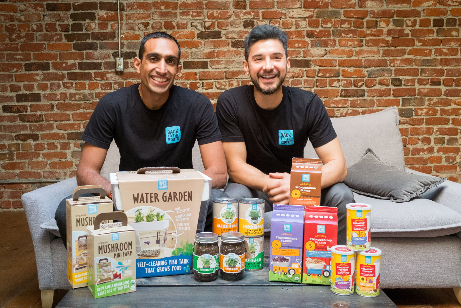 Nikhil Arora and Alejandro Velez co-owners of Back to the Roots