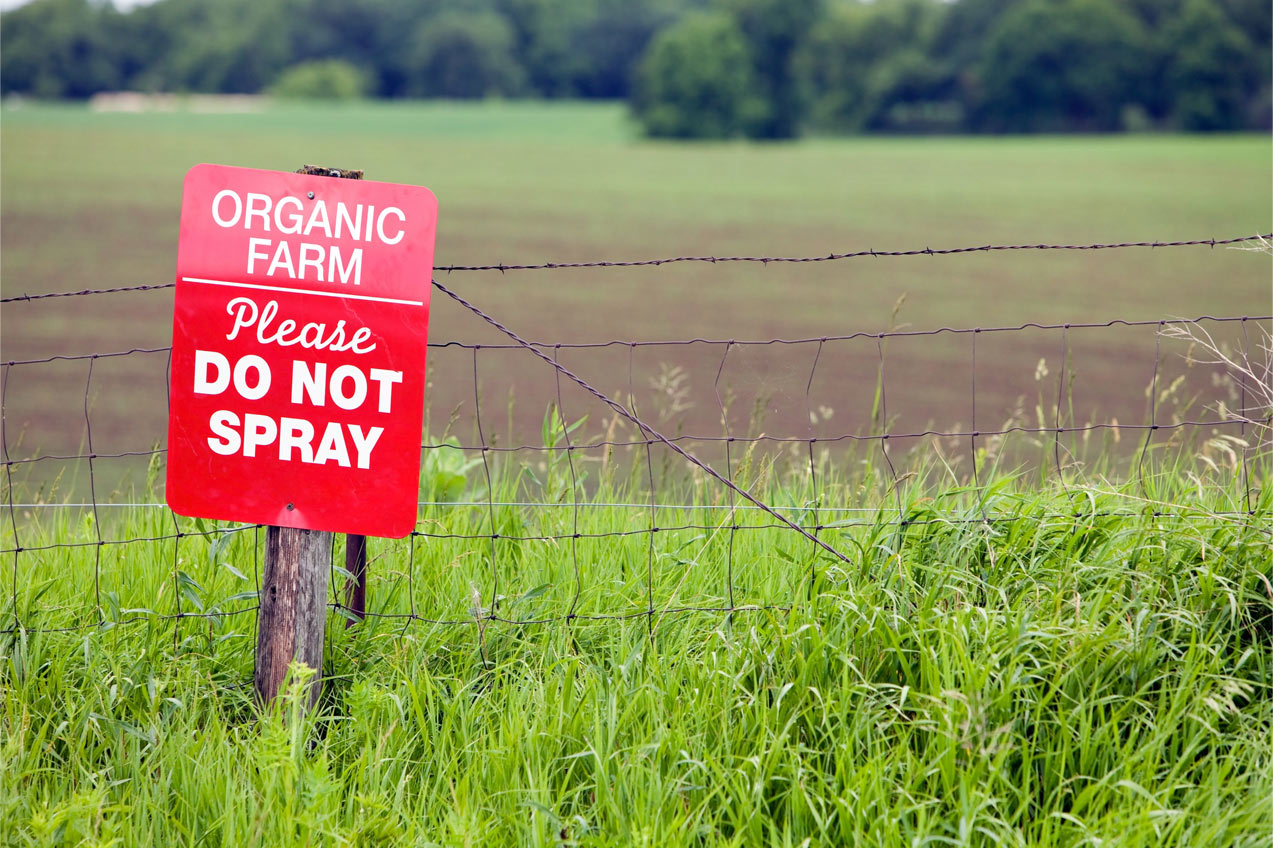 Organic Farm Do Not Spray