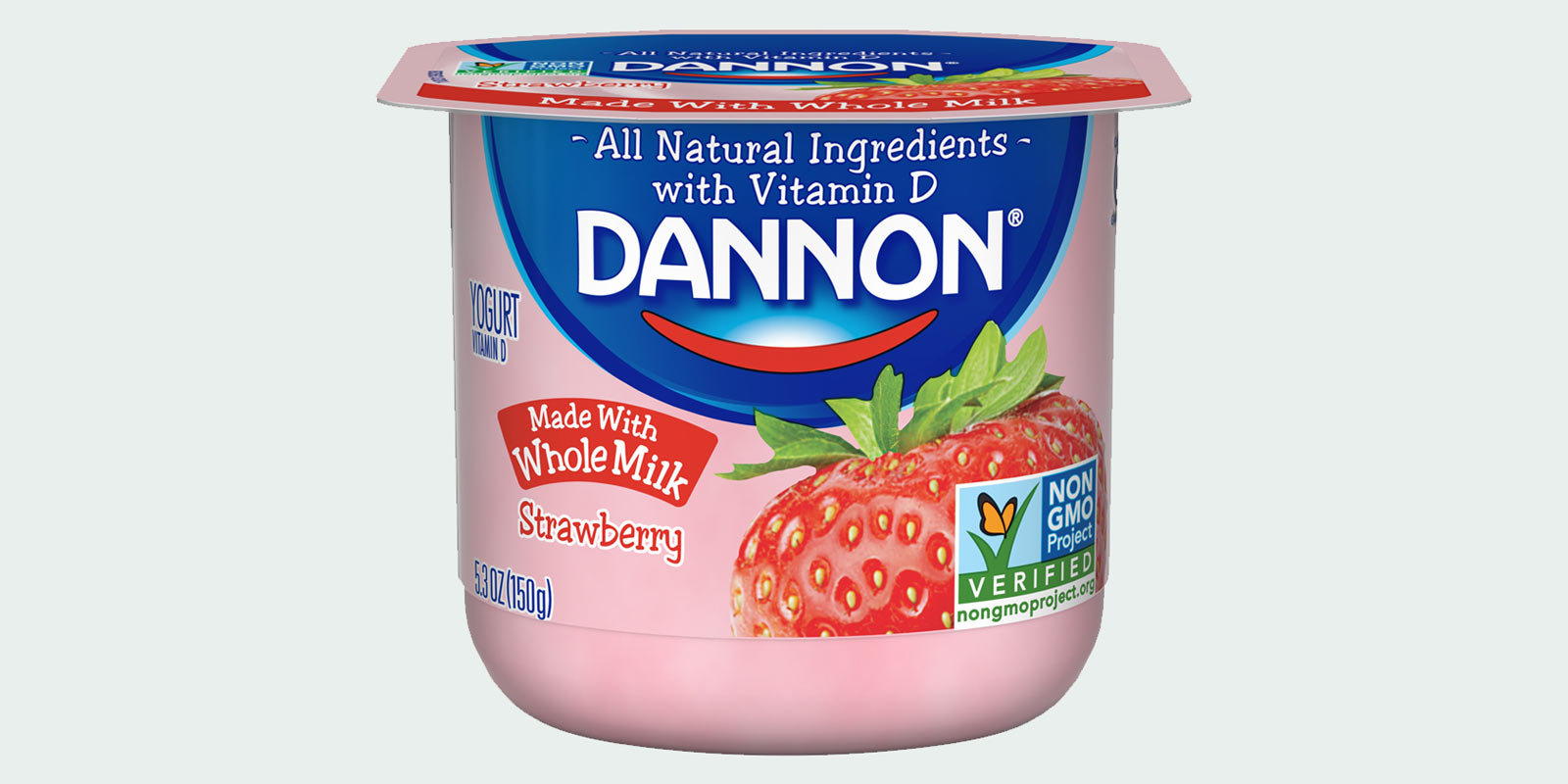 Non-gmo verified Dannon yogurt