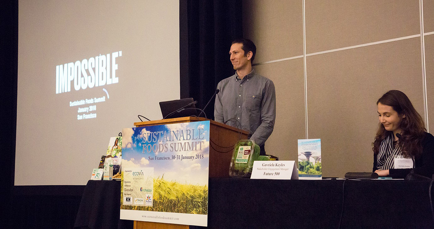 Nick Halla chief strategy officer of Impossible Foods at Sustainable Foods Summit