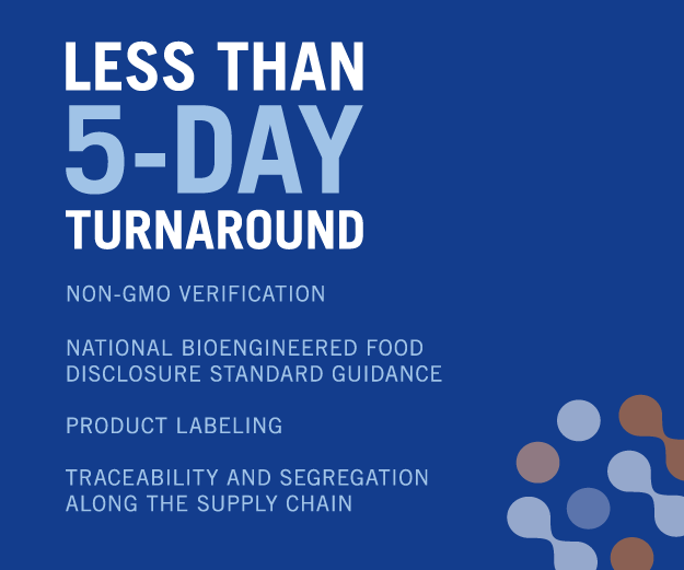 Less than 5-day turnaround testing