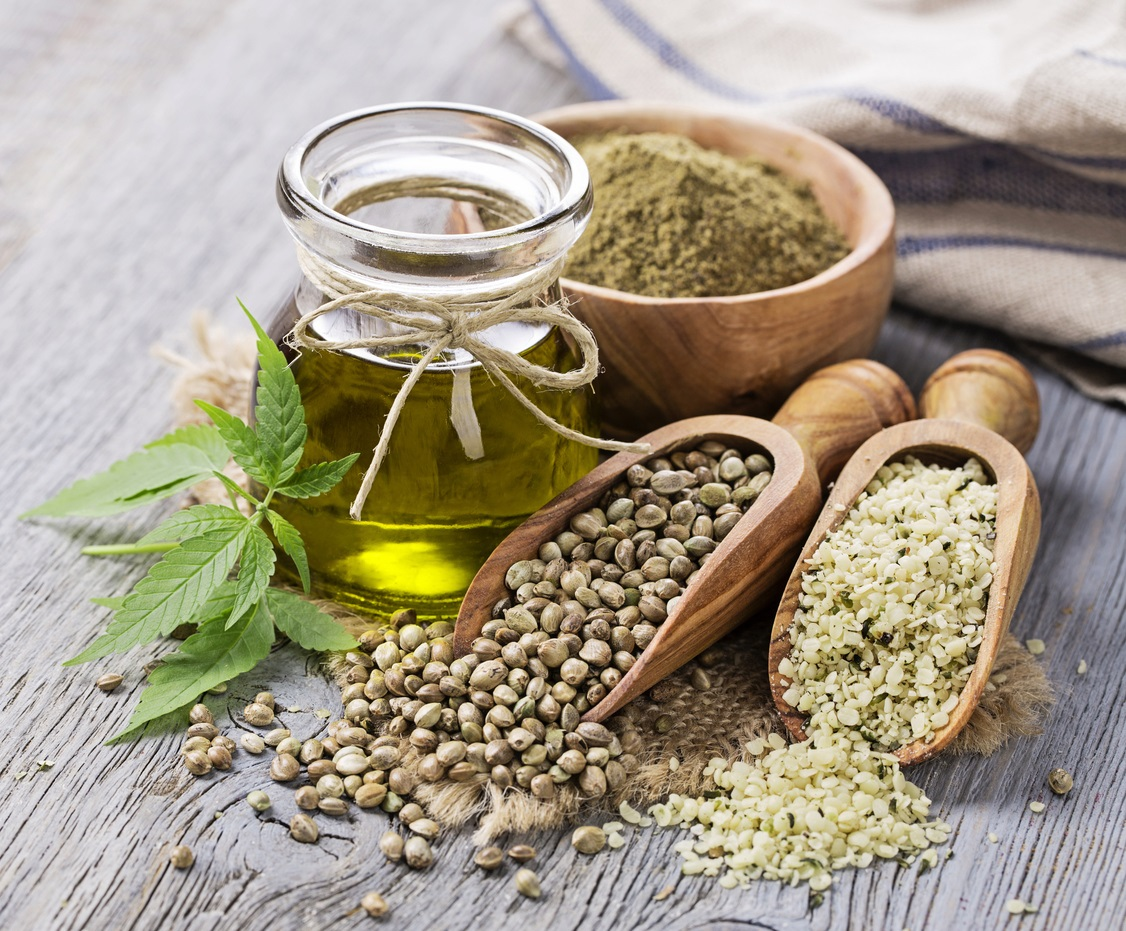 Hemp seeds, oil and flour