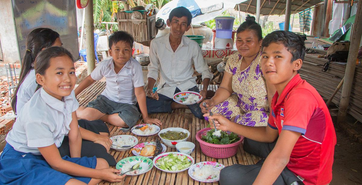 Cambodian organic farmers