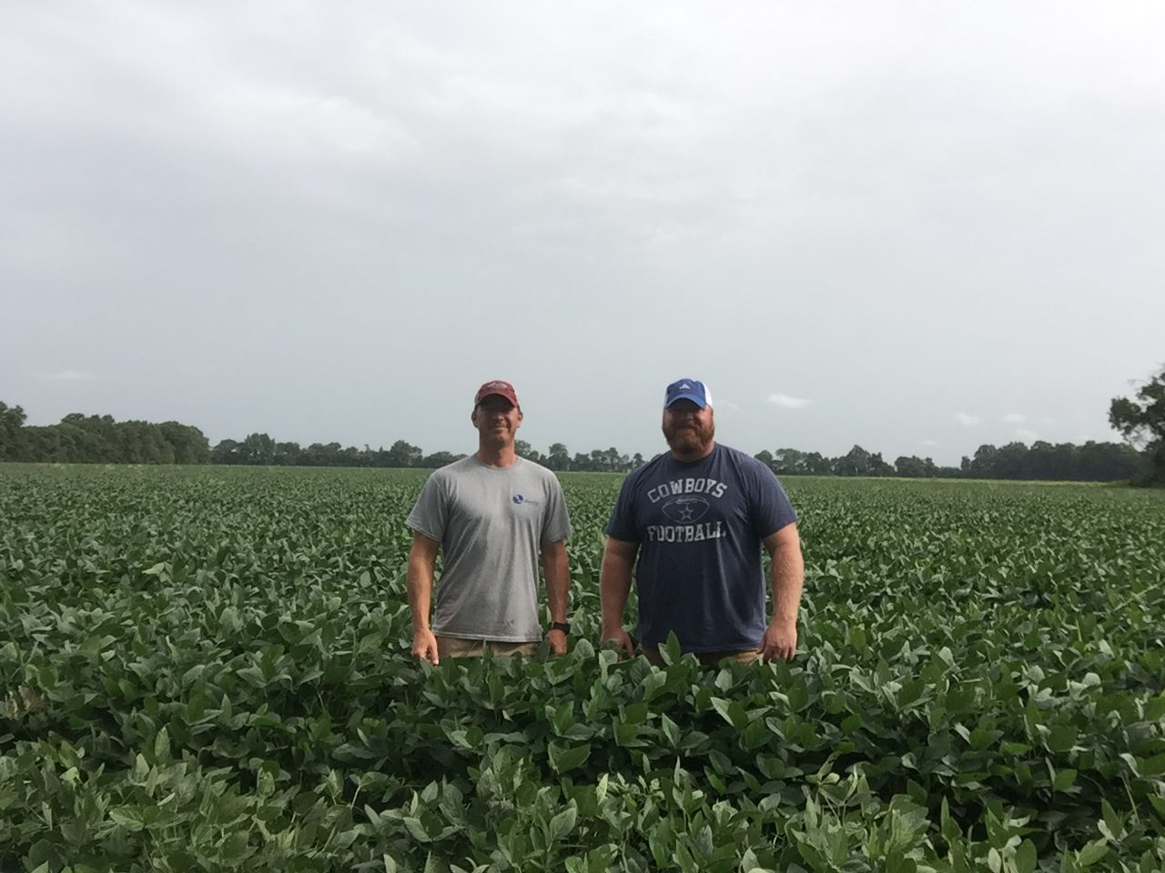 Seth and Adam Chappell in field