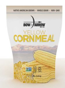 Bow & Arrow yellow corn meal package