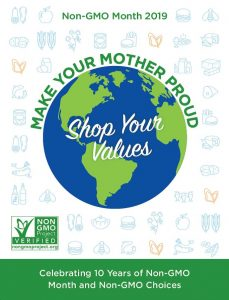 Make Your Mother Proud Non-GMO Month poster