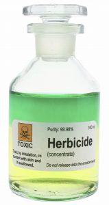Bottle of herbicide