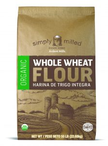 sack of organoic whole wheat flour