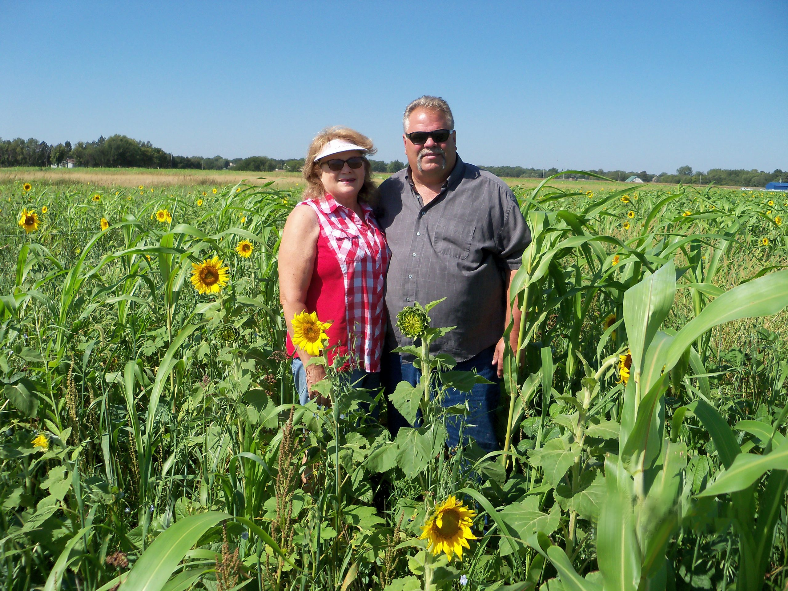 Barbara and Scott Gonnerman in field