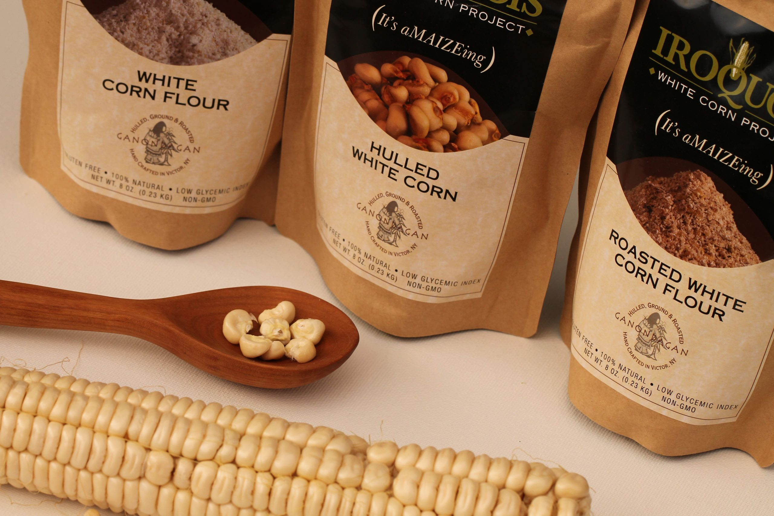 Iroquois white corn flour products