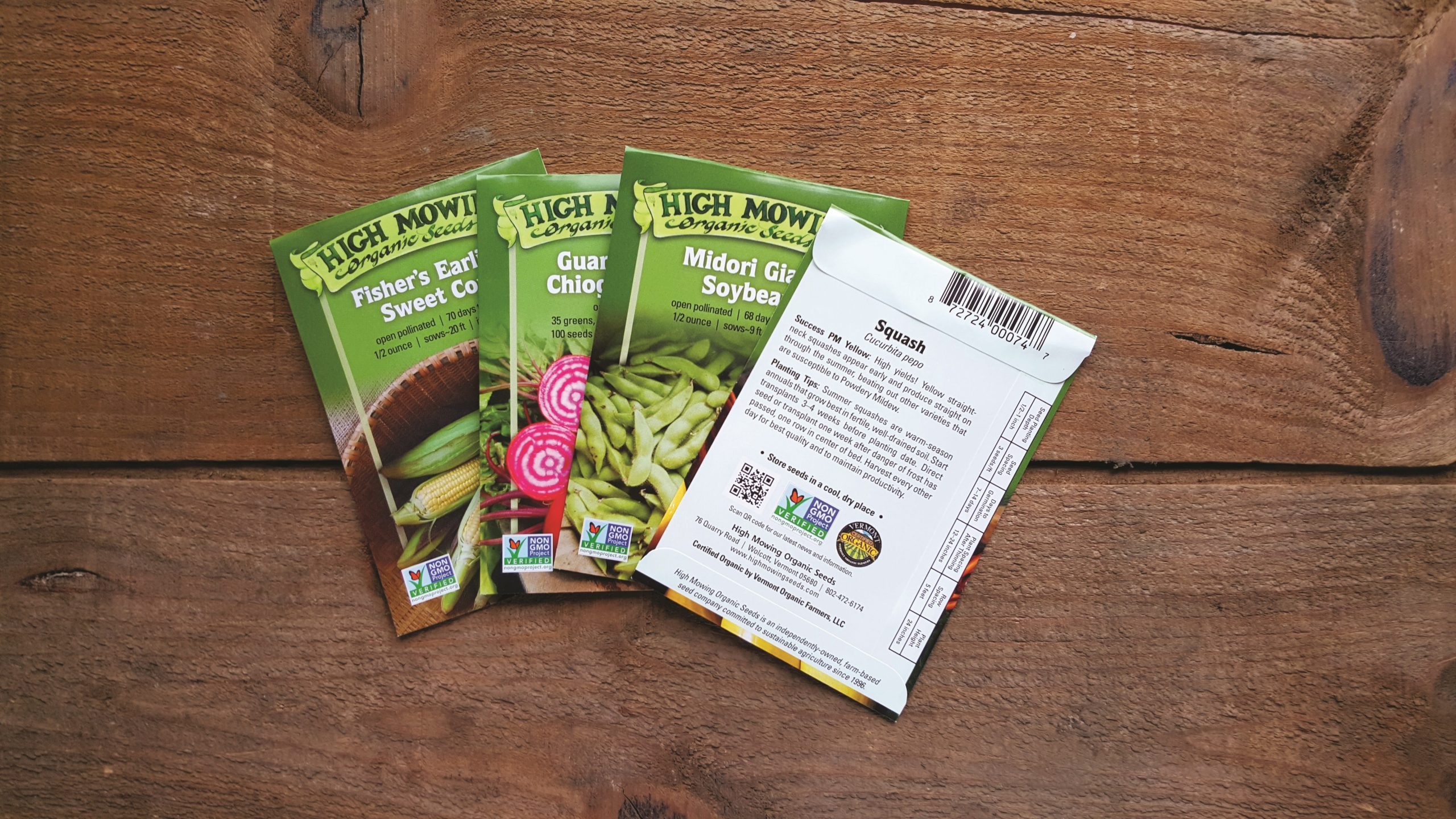 High Mowing seed packets