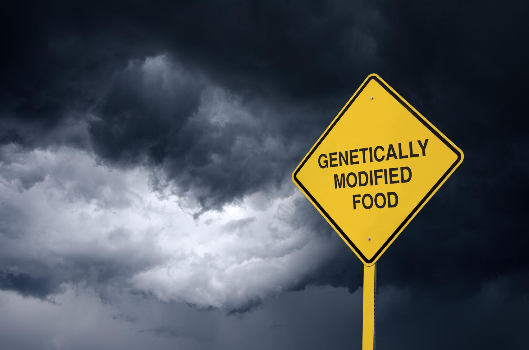 GM food danger sign