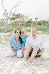 Keith and Meghan Rowe and their young son