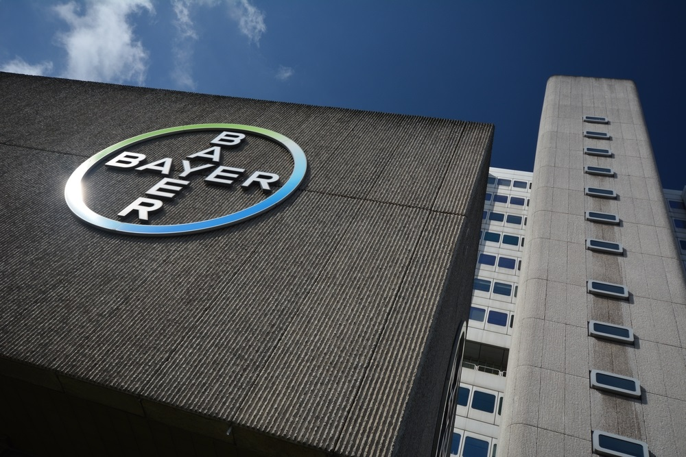Bayer sign on building