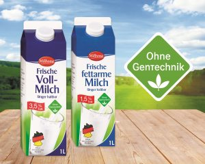 60% of milk products in Germany are non-GMO and feature the Ohne Gentechnik (produced without genetic engineering) logo