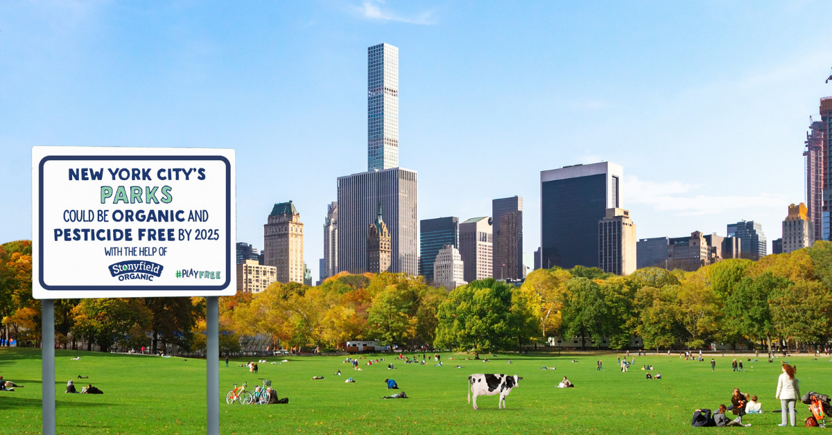 Photo Stonyfield pesticide free Central Park