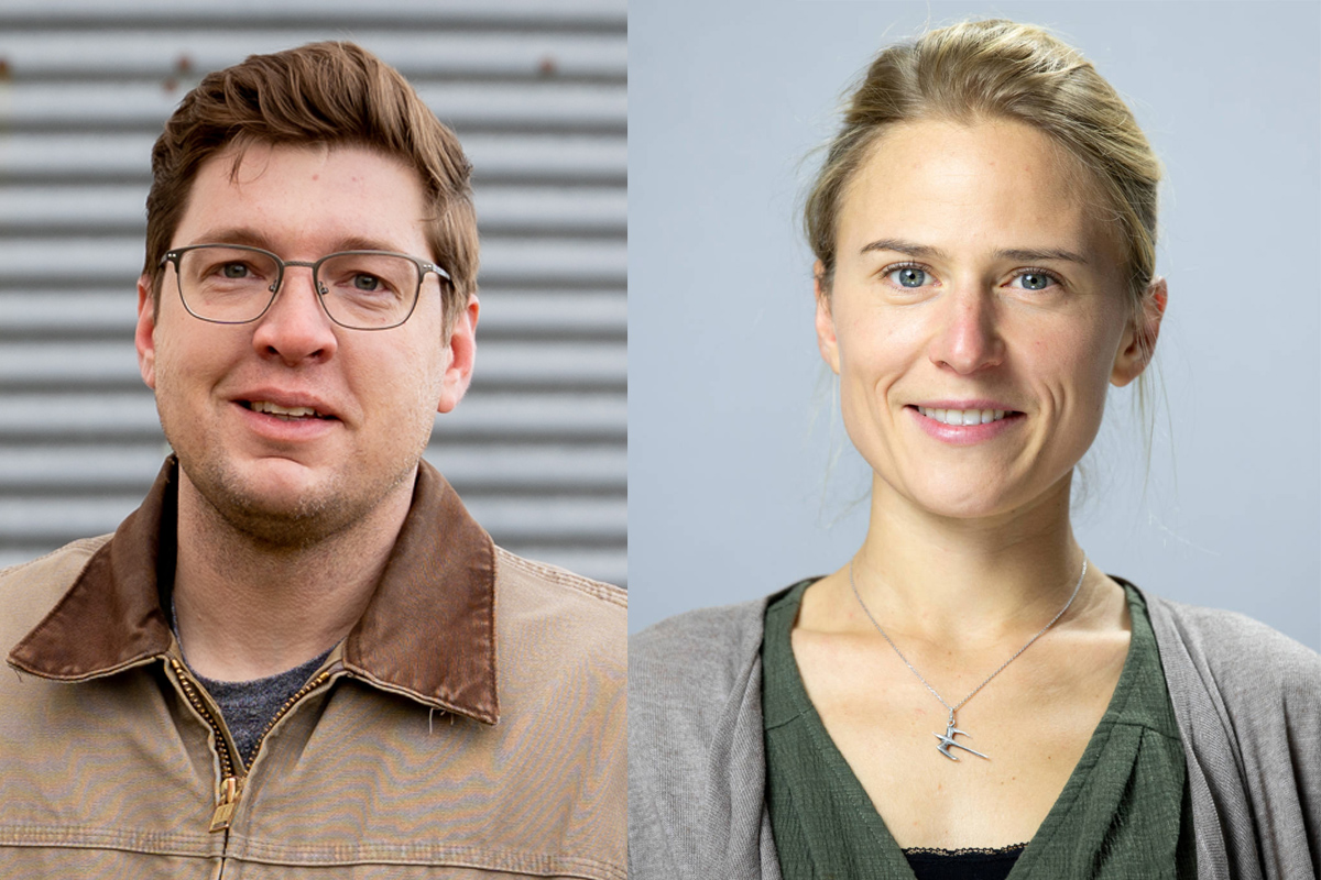 Nic Podoll and Léa Vereecke, organic crop consultants for the Rodale Midwest Center